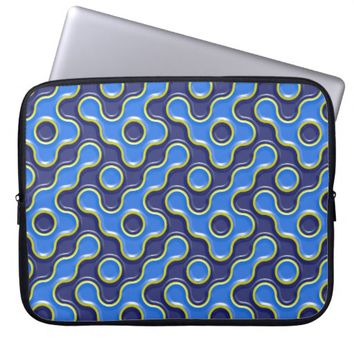 Abstract Geometric Curve Pattern Laptop Sleeve