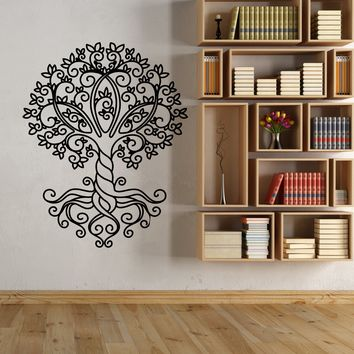 Vinyl Wall Decal Celtic Tree Of Life Ornament Nature Stickers (2292ig)