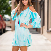 Crystal Clear Waters Dress, Blue
