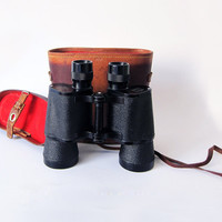 Vintage Binoculars with Leather Case