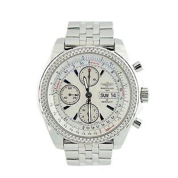 Breitling Bentley A13362 White Dial Day Date Stainless Automatic Men's Watch