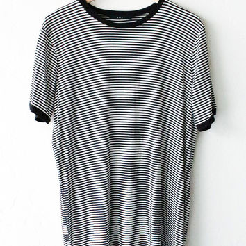 Striped Oversize Crew Neck Shirt