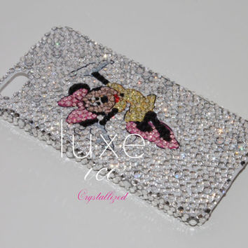 Mickey Mouse design Minnie iPhone 5c case made w Swarovski Elements. Bling crystal Bumpy