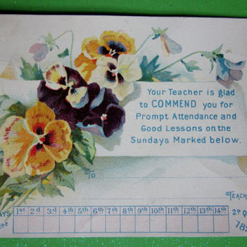 Vintage Scrap 1897 Unused Sunday School Card from Bible Pictures for Little Ones Series Perfect for Crafting and Scrapbooking or Collectors