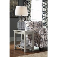 T748-7 Veldar Chair Side End Table - Whitewash - Free Shipping!