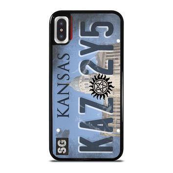 SUPERNATURAL LICENSE PLATE CUSTOM iPhone X Case
