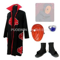 Anime Uzumaki Naruto Akatsuki Obito Uchiha Cosplay Costume Full Set