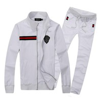 Gucci Cardigan Jacket Coat Pants Trousers Set Two-Piece Sportswear-6