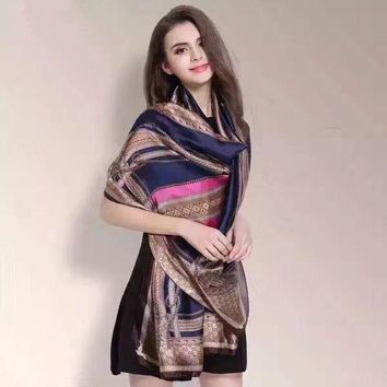 High Quality Silk Scarf Summer Winter Women 2016 Women's Luxury Scarves And Stoles Scarfs Fashionable Beach Shawls Lady190*90cm