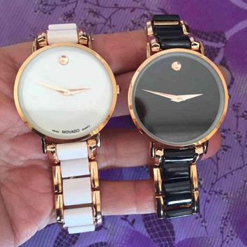 MOVADO Women Fashion Quartz Movement Watch Wristwatch