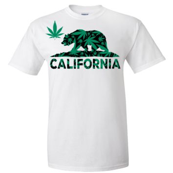 California 420 Hemp Flag Asst Colors T-shirt/tee