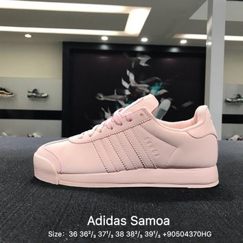 Adidas Originals Samoa + W Causel Pink Women Skateboarding Shoes - BY3528