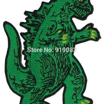 PEAPON 3' KING OF THE MONSTERS GODZILLA Patch Iron on BADGE MORALE MILITARY TV Movie Series Halloween Cosplay Costume