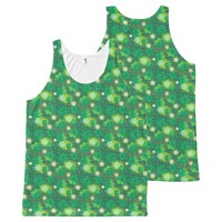 4 Leaf Clover Lucky Day St Patricks Day Pattern All-Over-Print Tank Top