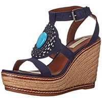 Lauren Ralph Lauren Womens Sophia Suede Embellished Wedge Sandals