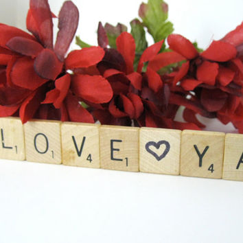 Love Ya Handmade Magnet Repurposed Home Decor Scrabble Tile Letters Geekery