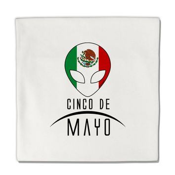 "Mexican Extraterrestrial Text Micro Fleece 14""x14"" Pillow Sham by TooLoud"