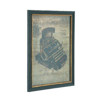 North's Typewriter / Alfred Bull Printer & Bookbinder - Historical British Framed Wall Plaque