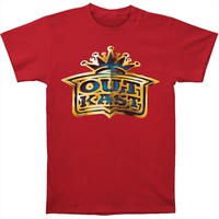 Outkast Men's  Gold Crown Logo Mens T Slim Fit T-shirt Red