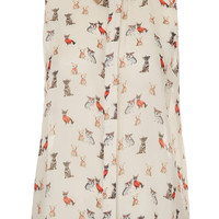 Puppy Print Collar Tip Shirt - New In This Week - New In - Topshop USA
