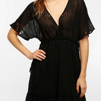 Hazel Flutter Sleeve Surplice Dress