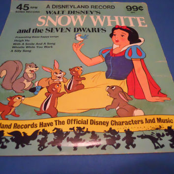 Classic Walt Disney's Snow White 7 Record by ZoeAmaris on Etsy