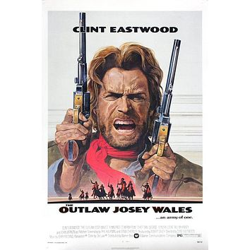 Vintage Outlaw Josey Wales Poster//Classic Movie Poster//Movie Poster//Poster Reprint//Home Decor//Wall Decor//Vintage Art
