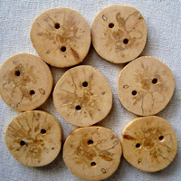 Tree Branch Buttons Wood Buttons for Knitting, Crochet, Journals, Totes and Clothing (Set of 8)