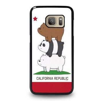we bare bears california republic samsung galaxy s7 case cover  number 2
