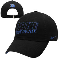 Nike Duke Blue Devils Dri-FIT Heritage 86 Campus Adjustable Performance Hat - Black