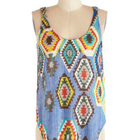 ModCloth Rustic Mid-length Sleeveless Sunny Stories Tank