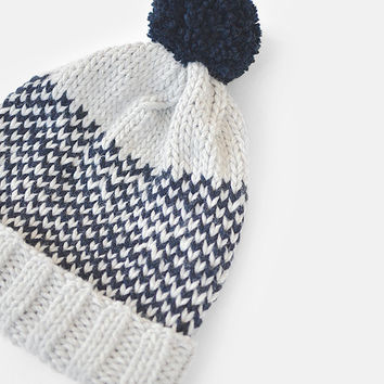 Fair Isle Beanie with Pom Pom, Hand Knit Hat, Womens Winter Hat, Mens Knit Ski Hat, Unisex Bobble Hat, Custom Jacquard Hat / Hand Knitted