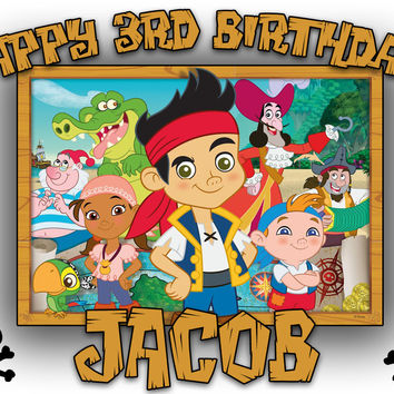 Personalized Custom Birthday T-shirt Disney Jake and the Neverland Pirates