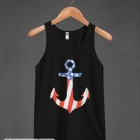 Anchor Flag Vintage (DARK)-Unisex Black Tank