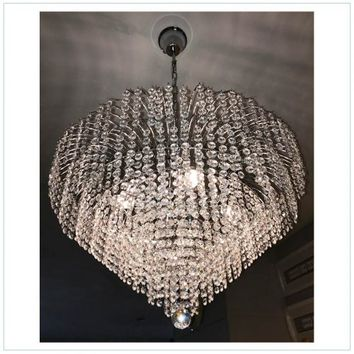 Crystal Glass Fountain Chandelier