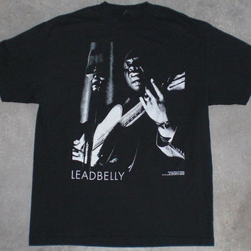 Vintage 1990 LEAD BELLY Shirt Blues Folk Rock Covered by Nirvana The Fall WZRD Led Zeppelin