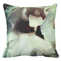 Cool bloomed White flower texture Outdoor Pillow