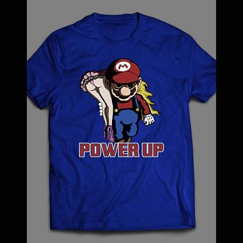 SUPER MARIO PARODY POWER UP T-SHIRT
