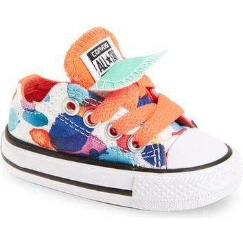 Converse Chuck Taylor? All Star? Double Tongue Low Top Sneaker (Baby, Walker & Toddler
