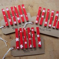 Fabric Covered Clothes Pegs | Luulla