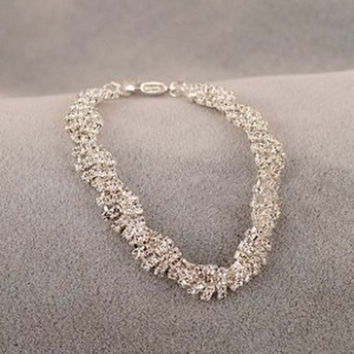 Shiny Rhinestone Hot Sale Korean Irregular Bangle = 4806917380