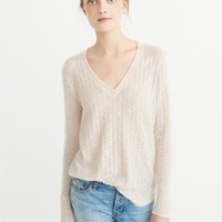 Womens Cozy V-Neck Top | Womens Tops | Abercrombie.com