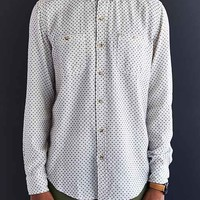 Salt Valley Dobby Button-Down Shirt- White