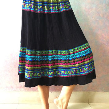 Rayon Soft Midi Skirt, Knee length skirt, Mini Indian Skirt, Bollywood skirt, Printed skirt, Soft fabric skirt, Boho Skirt