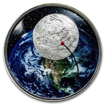 2019 Niue 1 oz Silver 50th Anniversary Moon Landing Curved Proof