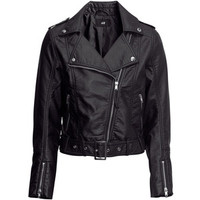 H&M Imitation leather biker jacket