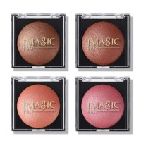 IMAGIC Baked Blush Natural Mineral Powder Blush Single Color Palette Blush Long Lasting Make Up Blush  Bronze Face Makeup