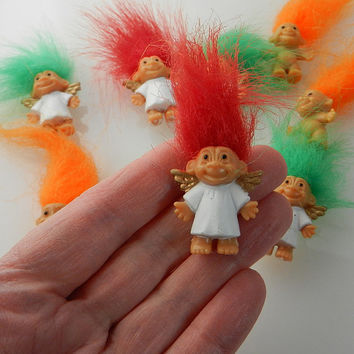 Miniature TROLL DOLLS - Small Toys, Tiny Toys, Party Gifts, Party Favors, Miniature Dolls, Miniature, Angel, Small Dolls, Tiny Dolls