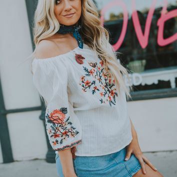 Festival Embroidered Top