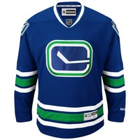 Vancouver Canucks Reebok Premier Replica Alternate NHL Hockey Jersey